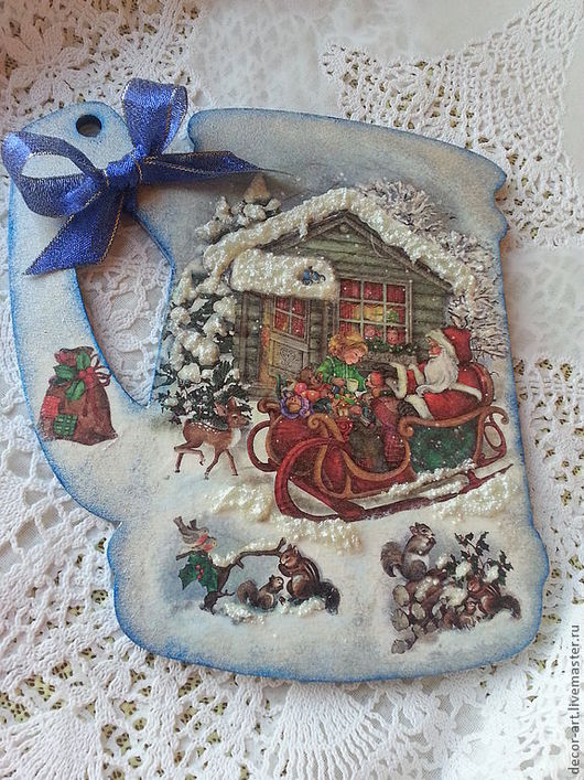 панно декоративное  Дед Мороз приехал Анастасия (Decor-art)