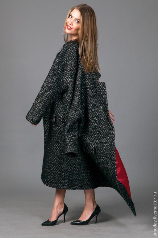 Пальто `Бизнес леди` из кашемира, мохера и шерсти, пальто оверсайз в наличии и на заказ. пошив пальто в короткий срок персонально
