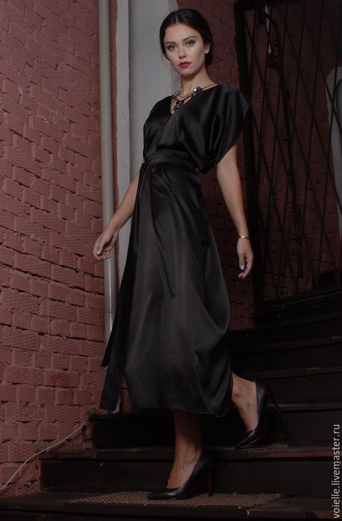 Вечернее платье из атласа своими руками фото 971