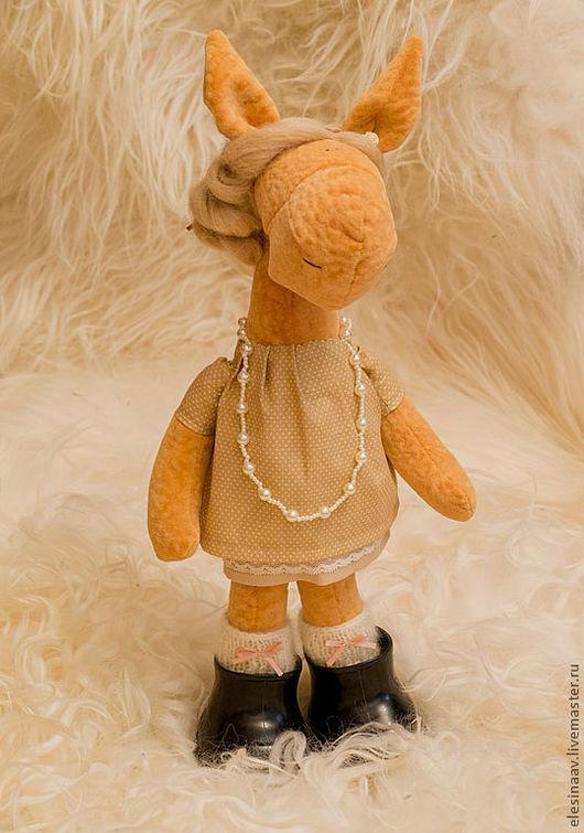 Игрушки животные, ручной работы. Ярмарка Мастеров - ручная работа. Купить Бабушка Лошадь. Handmade. Оранжевый, подарок, мохер с акрилом