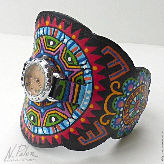 Часы ручной работы. Ярмарка Мастеров - ручная работа. Купить Браслет для часов «MEXICO!». Handmade. Комбинированный, ремешок на часы