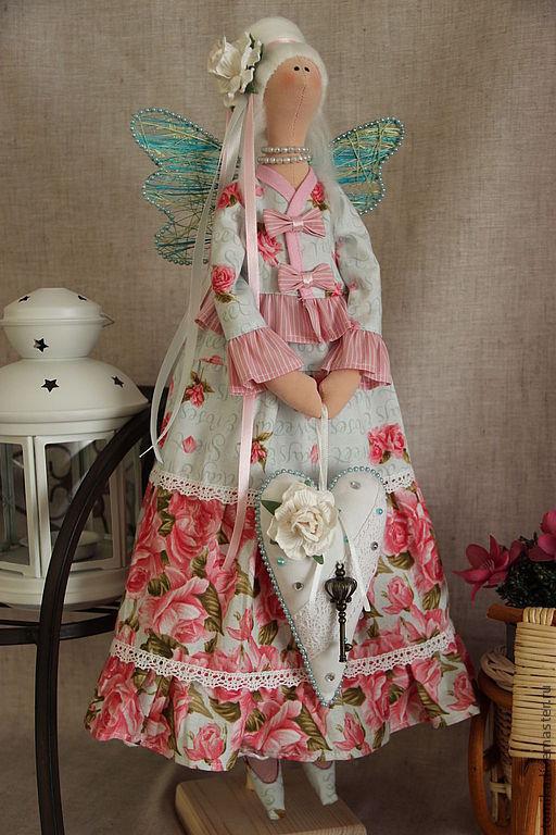Куклы Тильды ручной работы. Ярмарка Мастеров - ручная работа. Купить FLORA. Handmade. Розовый, кукла Тильда, фурнитура