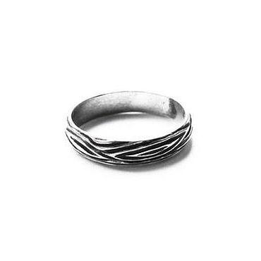 Украшения ручной работы. Ярмарка Мастеров - ручная работа Серебряное кольцо с чернением, размер по запросу. Handmade.