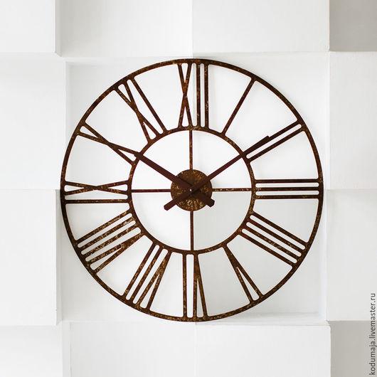 Часы для дома ручной работы. Ярмарка Мастеров - ручная работа. Купить Настенные часы рустик Rooma-rooste S 60см (ржавые). Handmade.