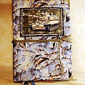 """Канцелярские товары ручной работы. Ярмарка Мастеров - ручная работа Блокнот """"Танкисту"""". Handmade."""