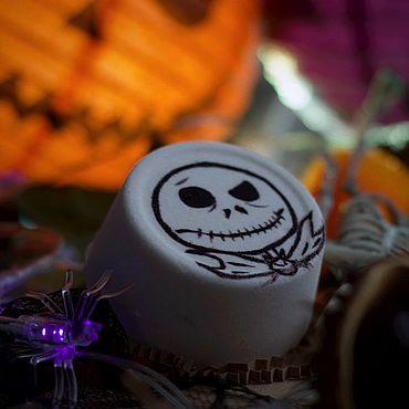 Косметика ручной работы. Ярмарка Мастеров - ручная работа Хэллоуин Джек Кошмар перед рождеством бомбочка для ванны. Handmade.