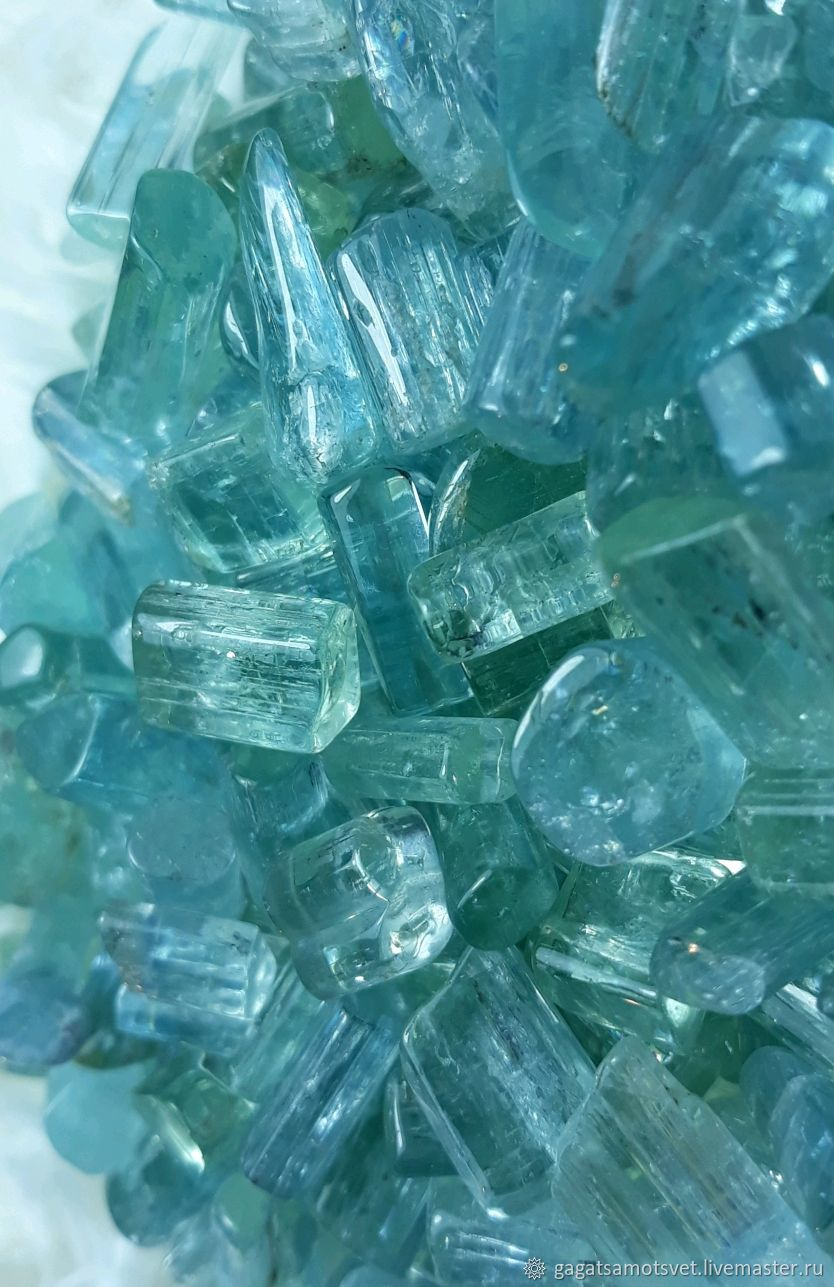 Aquamarine (ajaltouni crystals).Sherlova mountain. Transbaikalia. RUSSIA, Minerals, St. Petersburg,  Фото №1