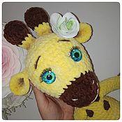Мягкие игрушки ручной работы. Ярмарка Мастеров - ручная работа Мягкие игрушки: Жирафик Лили. Handmade.