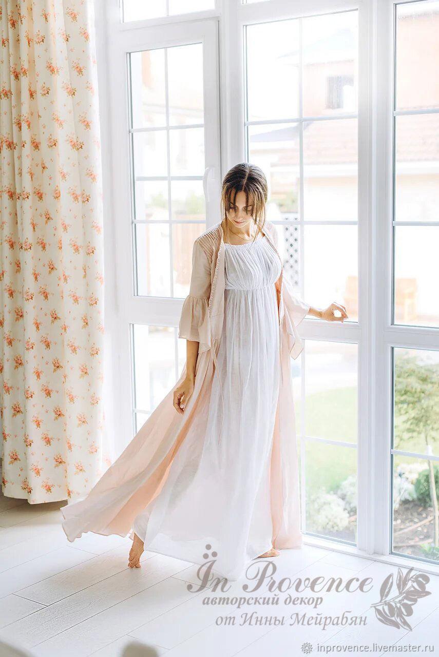 Будуарное платье-халат Пыльная роза, Платья, Краснодар, Фото №1