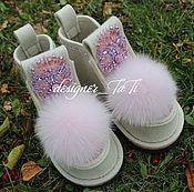 """Обувь ручной работы. Ярмарка Мастеров - ручная работа Валенки, модель """"Нежное сияние"""". Handmade."""