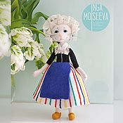 Куклы и игрушки handmade. Livemaster - original item White Cat, Dutch Dancer. Handmade.