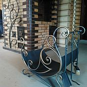 Дача и сад handmade. Livemaster - original item Set-forged woodcutter with fireplace set. Handmade.