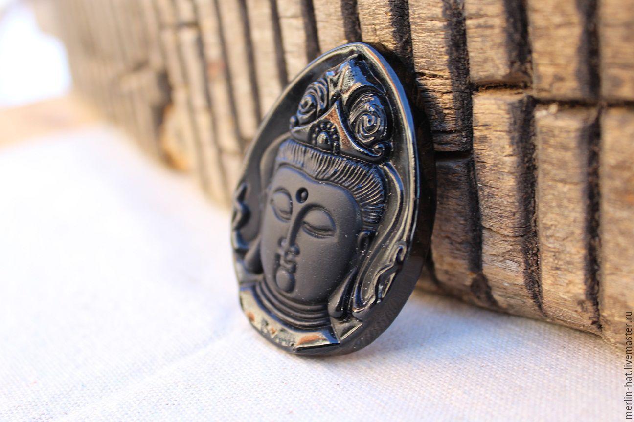 Obsidian pendant-medallion ' Buddha', Pendants, Tambov,  Фото №1
