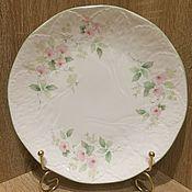Винтажные тарелки ручной работы. Ярмарка Мастеров - ручная работа Очаровательная большая тарелка Elizabethan Staffordshire, Англия. Handmade.