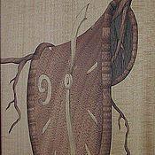 """Картины и панно ручной работы. Ярмарка Мастеров - ручная работа """"Время утекает"""" по С. Дали шпон- маркетри. Handmade."""