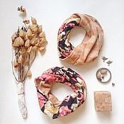 Аксессуары ручной работы. Ярмарка Мастеров - ручная работа двусторонний трикотажный снуд в ассортименте(шарф-капюшон). Handmade.