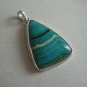 Украшения handmade. Livemaster - original item CHRYSOCOLLA pendant925 sterling silver.. Handmade.