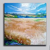 "Картины и панно handmade. Livemaster - original item Picture by oil "" Harvest"". Handmade."