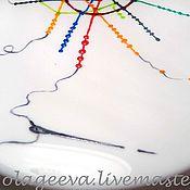 """Посуда ручной работы. Ярмарка Мастеров - ручная работа Тарелка """"Шьем Московское метро"""". Handmade."""
