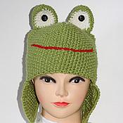 Аксессуары handmade. Livemaster - original item Hat-frog. Handmade.