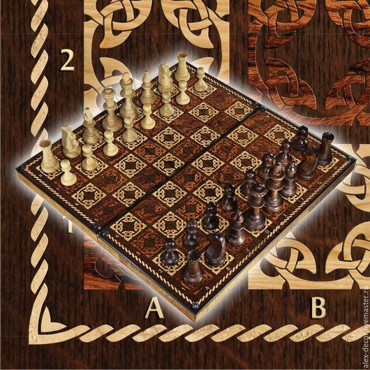 Настольные игры ручной работы. Ярмарка Мастеров - ручная работа. Купить Эксклюзивные шахматы с вашим изображением. Handmade. Комбинированный, дерево