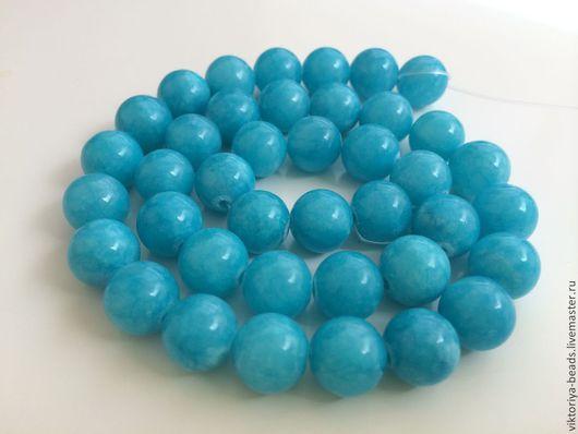 Для украшений ручной работы. Ярмарка Мастеров - ручная работа. Купить Агат голубой бусины 10 мм гладкие. Handmade.
