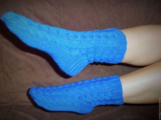 Носки, Чулки ручной работы. Ярмарка Мастеров - ручная работа. Купить Теплые носочки. Handmade. Тёмно-синий, носки женские