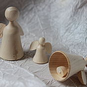 Заготовки для декупажа и росписи ручной работы. Ярмарка Мастеров - ручная работа Ангелок-колокольчик, маленький ангелок. Handmade.