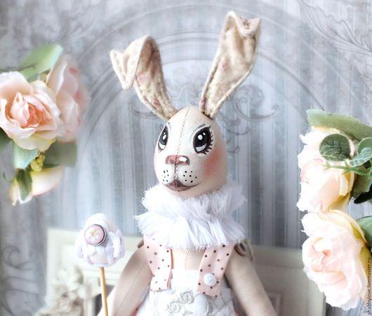 """Игрушки животные, ручной работы. Ярмарка Мастеров - ручная работа. Купить Крольчиха """"Алиса"""". Handmade. Бледно-розовый, Пасхальный кролик"""