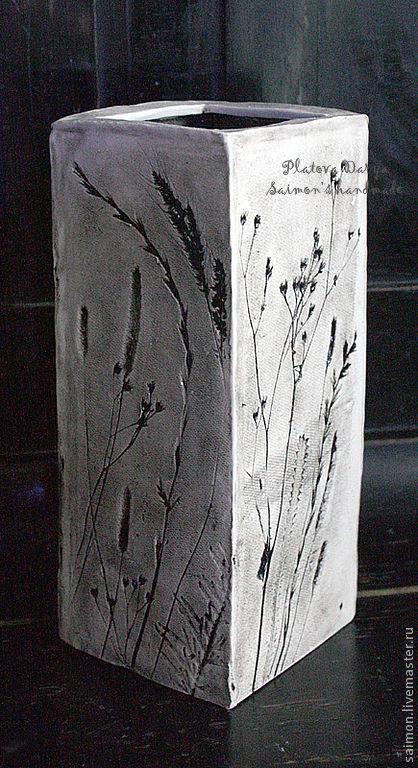 """Вазы ручной работы. Ярмарка Мастеров - ручная работа. Купить Высокая ваза """"Summer inspiration"""". Handmade. Ваза, керамика"""