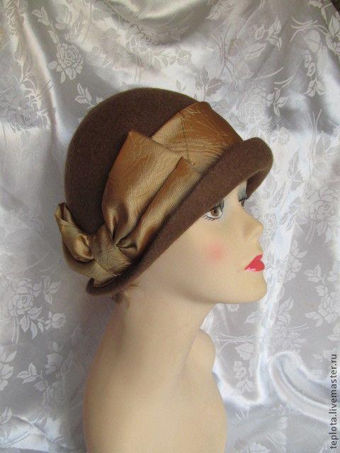 """Шляпы ручной работы. Ярмарка Мастеров - ручная работа. Купить шляпка валянная """"Возвращаясь в 20-е"""". Handmade. Шляпка валяная"""