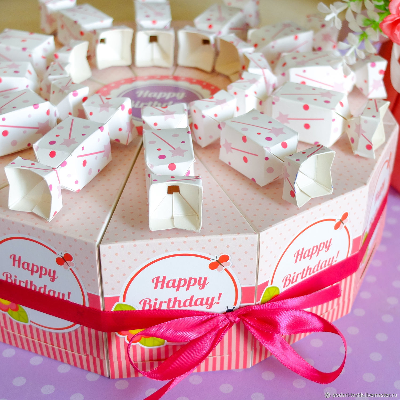 бумажный торт для поздравлений сельчанам