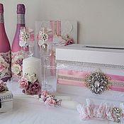 """Свадебный салон ручной работы. Ярмарка Мастеров - ручная работа Свадебный набор """"Лиловые цветы"""". Handmade."""