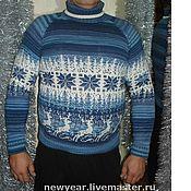 """Одежда ручной работы. Ярмарка Мастеров - ручная работа джемпер """"Скандинавская зима"""". Handmade."""