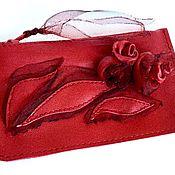 Сумки и аксессуары handmade. Livemaster - original item Red leather key holder .. Handmade.