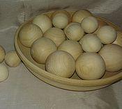 Материалы для творчества ручной работы. Ярмарка Мастеров - ручная работа шарики деревянные. Handmade.
