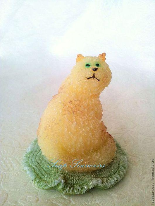 Мыло ручной работы. Ярмарка Мастеров - ручная работа. Купить Мыло Кот с мышкой. Handmade. Оранжевый, кот в подарок, мыловарение