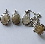 Комплект украшений серебро