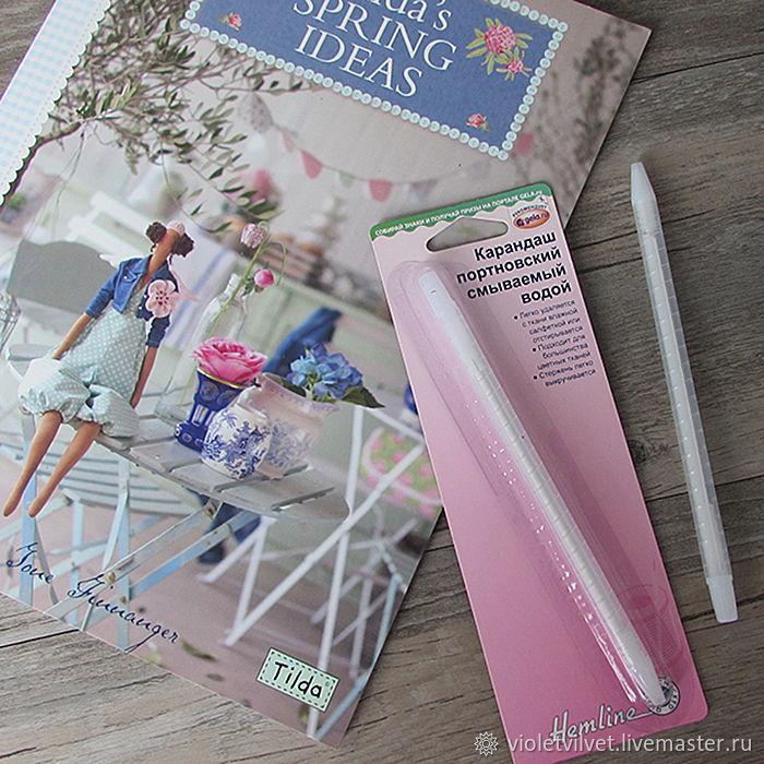 Карандаш для ткани смываемый, Sew Easy, Австралия, Инструменты для шитья, Москва,  Фото №1