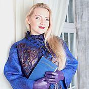 """Одежда ручной работы. Ярмарка Мастеров - ручная работа Авторское валяное пальто """"Sapphire history"""". Handmade."""