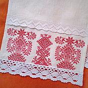 Русский стиль handmade. Livemaster - original item Towel Three Berehynia. Handmade.