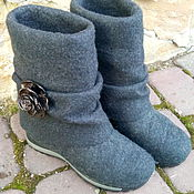 """Обувь ручной работы. Ярмарка Мастеров - ручная работа Валенки- трансформеры из натуральной шерсти """"black rose"""". Handmade."""