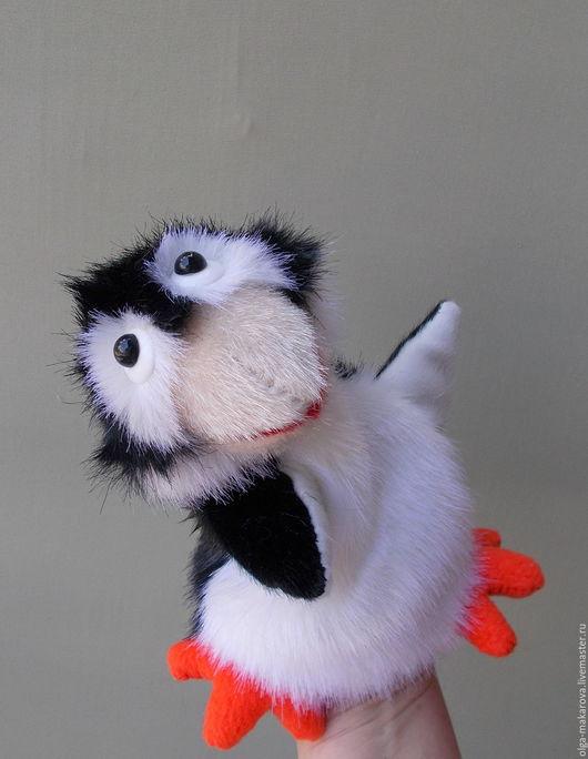 Кукольный театр ручной работы. Ярмарка Мастеров - ручная работа. Купить Пигвинёнок. Бибабо. Игрушка - перчатка для самых маленьких.. Handmade.
