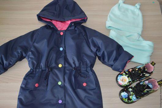 Одежда для девочек, ручной работы. Ярмарка Мастеров - ручная работа. Купить Плащик из мембраны рост 80-86. Handmade. Плащ