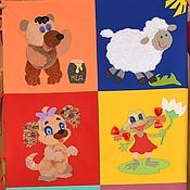 """Куклы и игрушки ручной работы. Ярмарка Мастеров - ручная работа Развивающий коврик """" Наш домашний зоопарк"""". Handmade."""