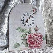 """Для дома и интерьера ручной работы. Ярмарка Мастеров - ручная работа Часы """"Акварельная роза"""". Handmade."""