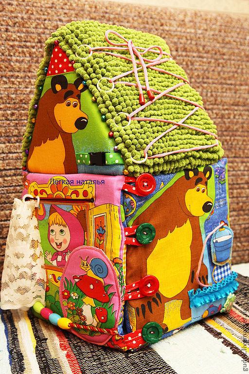"""Развивающие игрушки ручной работы. Ярмарка Мастеров - ручная работа. Купить Развивающий домик """" Играем в сказку. Маша и медведь(мультик)"""". Handmade."""
