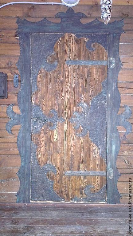 """Экстерьер и дача ручной работы. Ярмарка Мастеров - ручная работа. Купить Дверь """" Сказка"""". Handmade. Дверь, лиственница"""