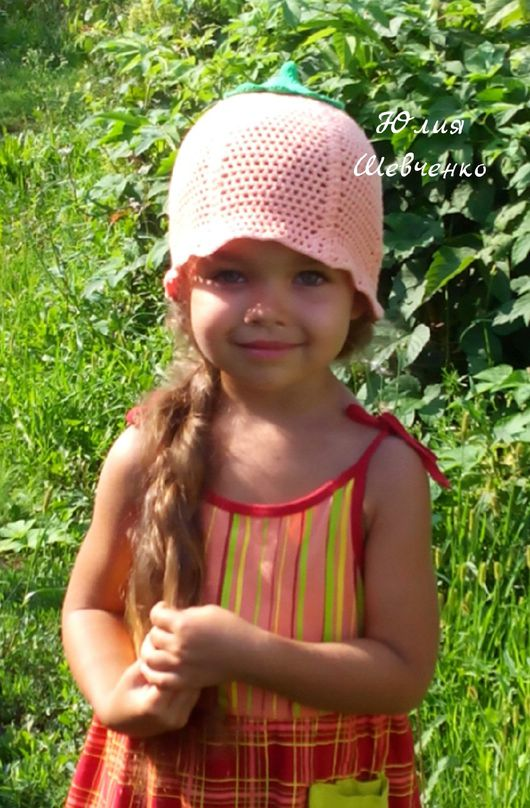 Шапки и шарфы ручной работы. Ярмарка Мастеров - ручная работа. Купить Панамка персикового цвета на девочку 3-5 лет. Handmade.