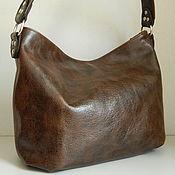 Сумки и аксессуары handmade. Livemaster - original item Leather women`s Bag hobo Brown vintage. Handmade.